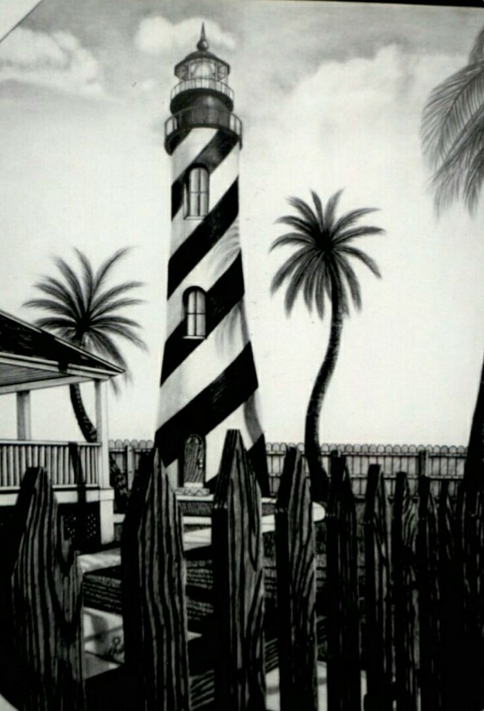 "#013 ""Lighthouse"" Original work SOLD $400"