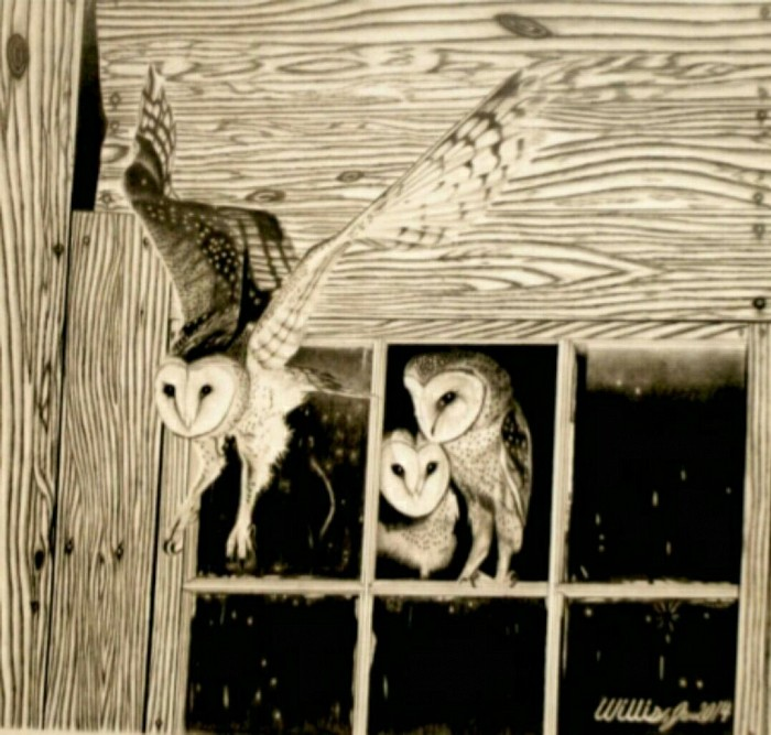 #014 Baby owls Original work sold $475