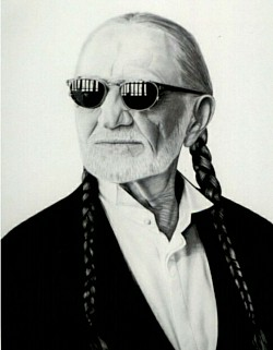 "#025 ""Willie Nelson"" Original work sold  $500"